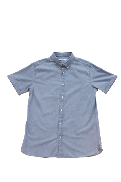 Jack & Jones Formal Denim Shirt S/S Plain Light Blue Denim