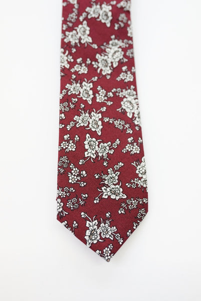 Beaux Rosewood Floral Tie