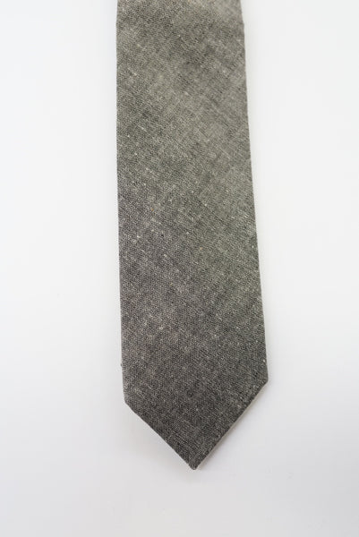 Beaux Grey Chambray Tie