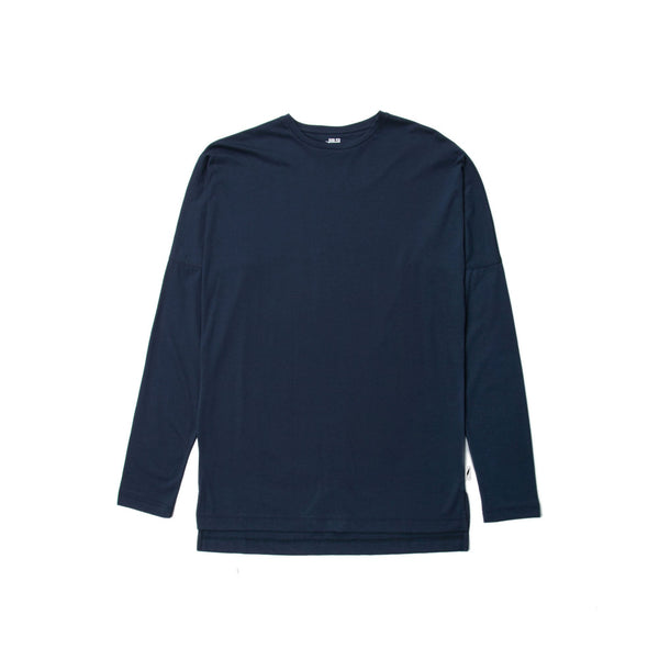 Publish L/S Drop Shoulder Knit Tee Navy