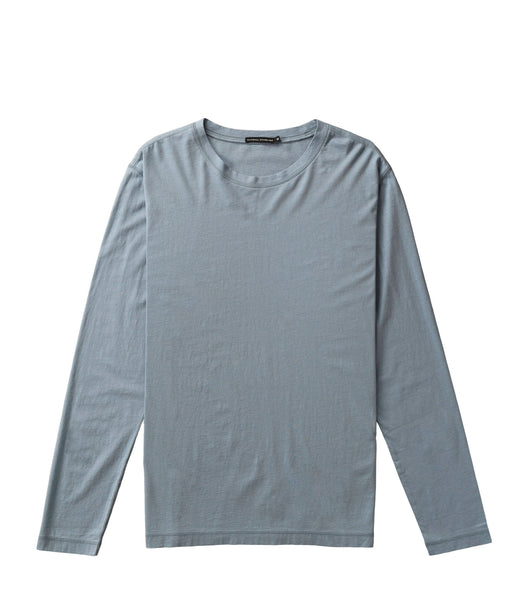 National Standards Washed Jersey L/S Crew Light Blue