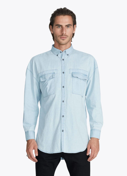 Zanerobe Patch Rugger LS Shirt Lt Denim