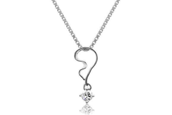 Abstract Swirl Necklace - Forever Lovely Jewellery