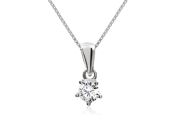 4mm Classic Solitaire Necklace - Forever Lovely Jewellery