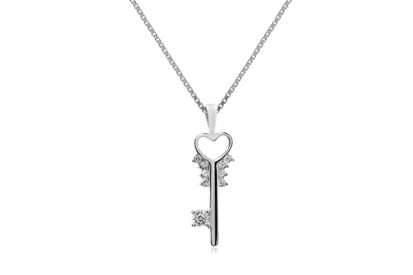 Key To My Heart Necklace - Forever Lovely Jewellery