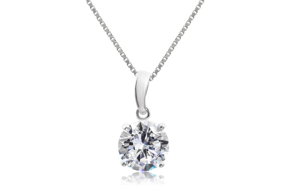 10mm Classic Solitaire Necklace - Forever Lovely Jewellery