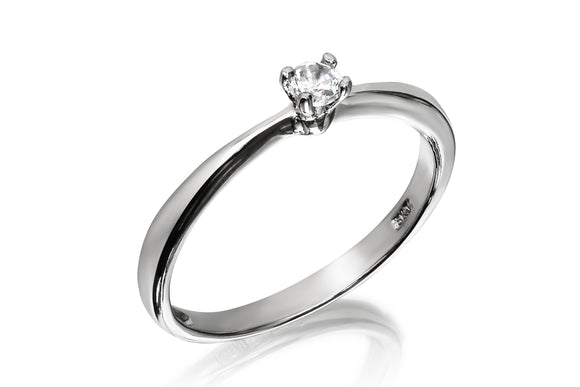 3mm Classic Solitaire Ring - Forever Lovely Jewellery