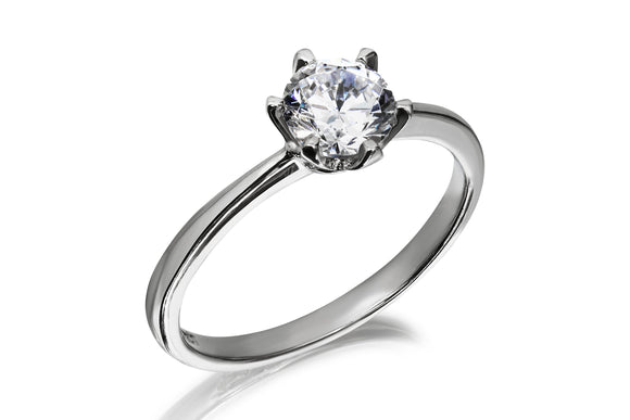 6mm Classic Solitaire Ring - Forever Lovely Jewellery