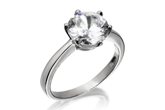 9mm Classic Solitaire Ring - Forever Lovely Jewellery