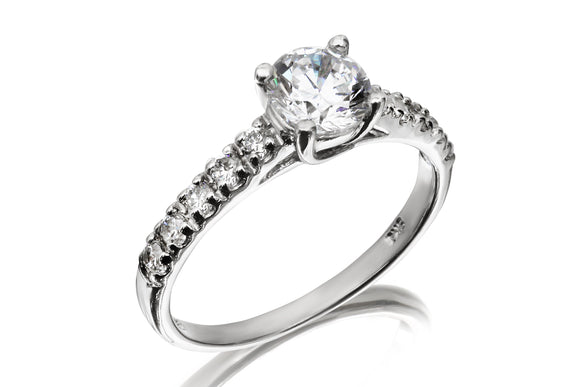 6mm Solitaire Eternity Ring (Low) - Forever Lovely Jewellery