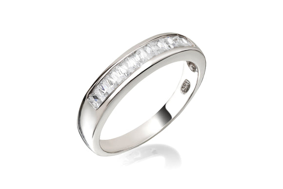 Princess Cut Channel Ring - Forever Lovely Jewellery