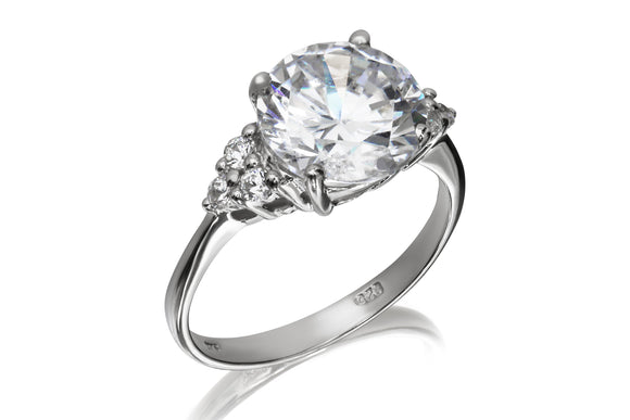 10mm Solitaire Cluster Ring - Forever Lovely Jewellery
