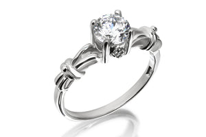 Solitaire Knot Ring - Forever Lovely Jewellery