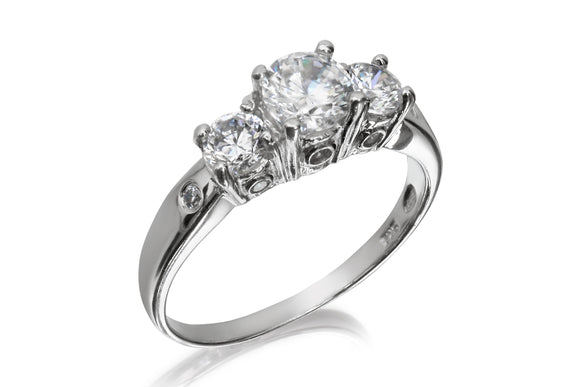 5mm 3 Stone Ring - Forever Lovely Jewellery