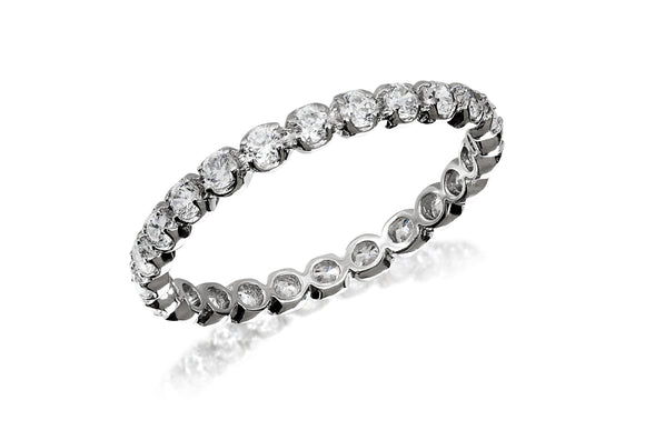 Full Circle Prong Eternity Ring - Forever Lovely Jewellery