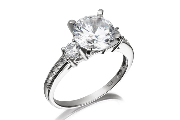 Solitaire Trilogy Ring - Forever Lovely Jewellery