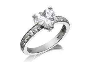 Classic Heart Solitaire Ring - Forever Lovely Jewellery
