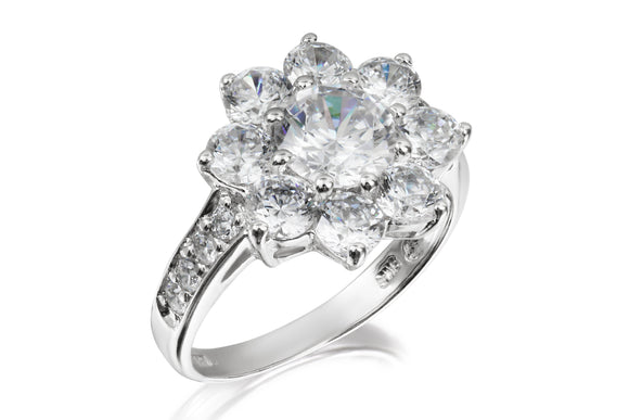 Solitaire Flower Ring - Forever Lovely Jewellery