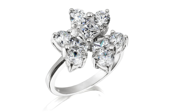 Flower Stone Ring - Forever Lovely Jewellery