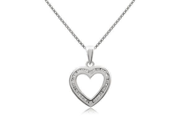 Channel Heart Necklace - Forever Lovely Jewellery