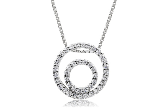 Double Eternity Necklace - Forever Lovely Jewellery