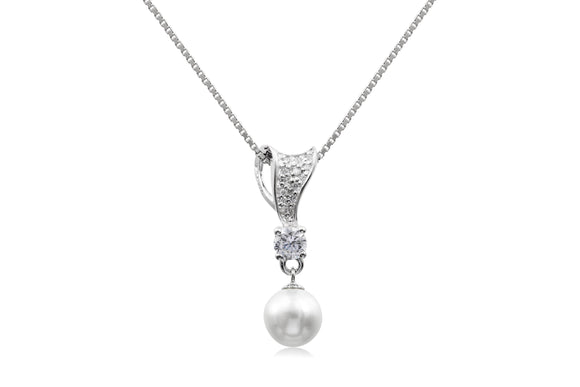 7mm Pearl Tie Necklace - Forever Lovely Jewellery