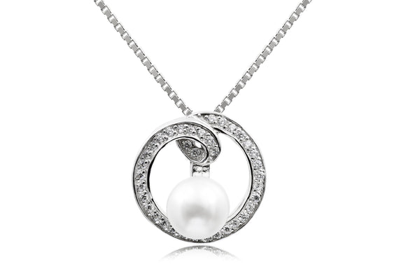 7mm Pearl Eternity Necklace - Forever Lovely Jewellery