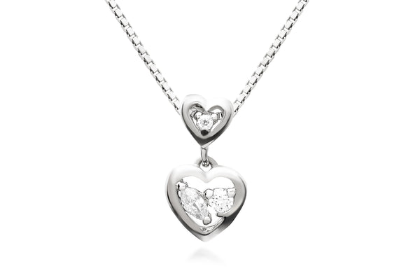 Double Heart Necklace - Forever Lovely Jewellery