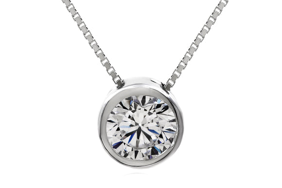 5mm Solitaire Bezel Necklace - Forever Lovely Jewellery