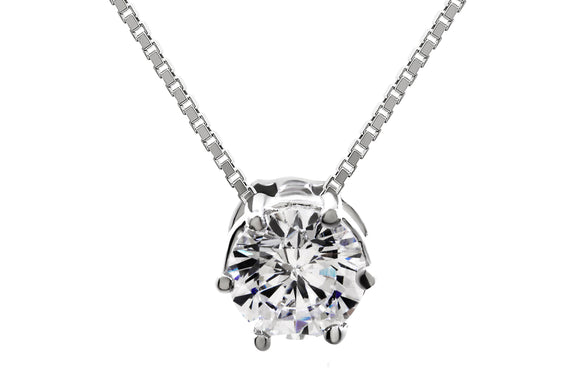 5mm Solitaire Necklace - Forever Lovely Jewellery