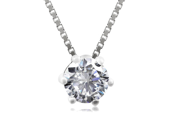 6mm Solitaire Necklace - Forever Lovely Jewellery