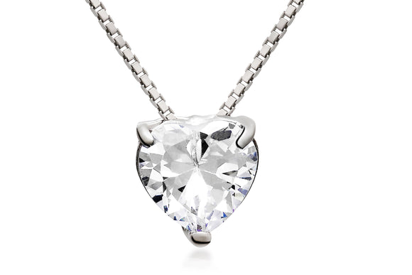 9mm Solitaire Heart Necklace - Forever Lovely Jewellery
