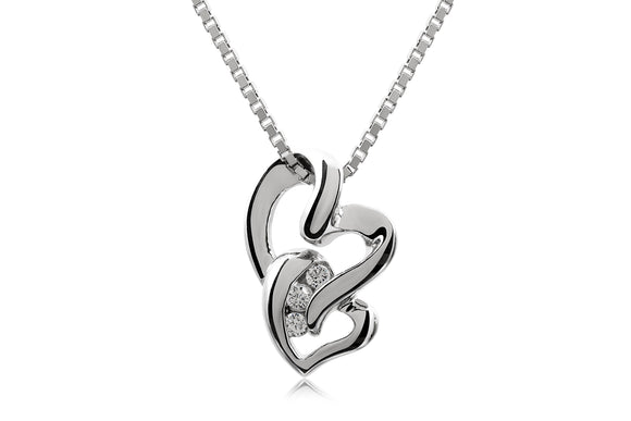 Interlinked Heart Necklace - Forever Lovely Jewellery