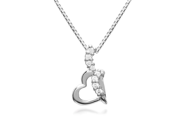 Heart Rope Necklace - Forever Lovely Jewellery
