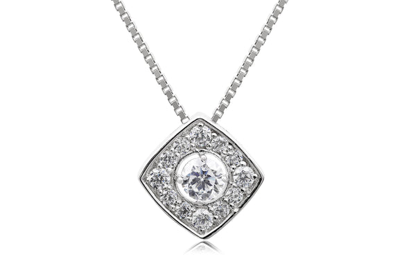 Solitaire Labyrinth Necklace - Forever Lovely Jewellery