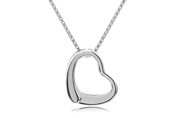 Open Heart Necklace - Forever Lovely Jewellery