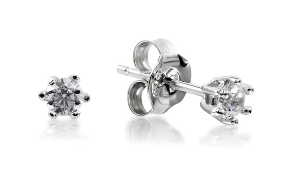 3mm Solitaire Studs - Forever Lovely Jewellery