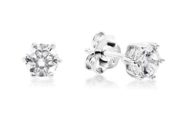 5mm Solitaire Studs - Forever Lovely Jewellery