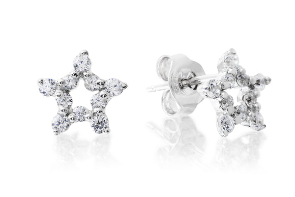 Open Star Studs - Forever Lovely Jewellery