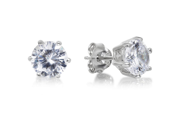 7mm Solitaire Studs - Forever Lovely Jewellery