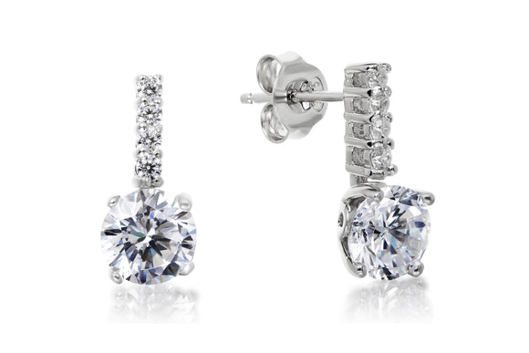 7mm Solitaire Drop Studs - Forever Lovely Jewellery