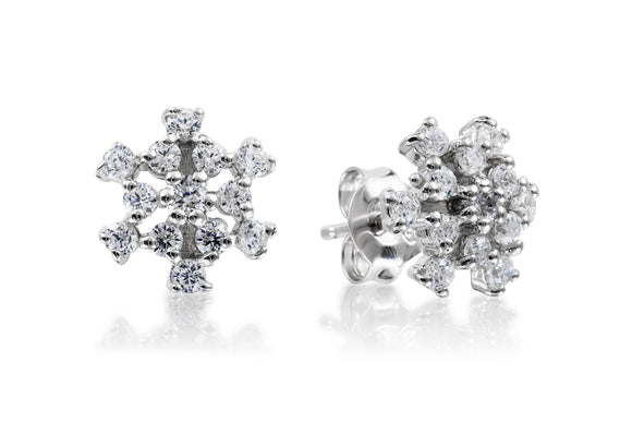 Snowflake Studs - Forever Lovely Jewellery