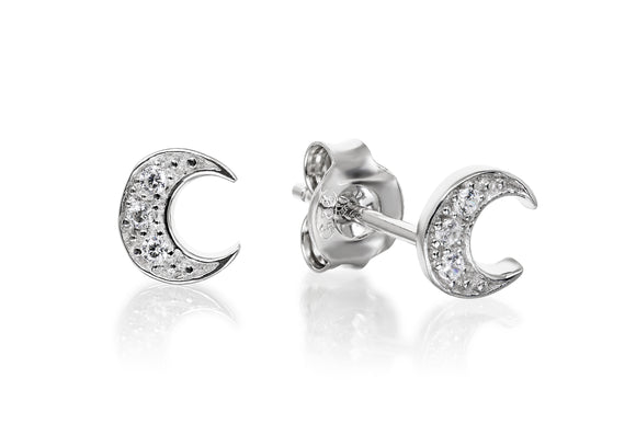Crescent Moon Studs - Forever Lovely Jewellery