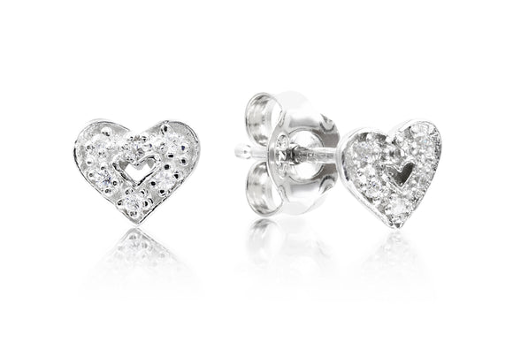 Heart Studs - Forever Lovely Jewellery