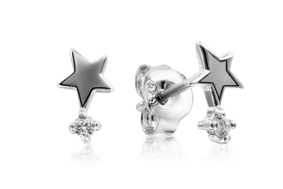 Star Tipped Studs - Forever Lovely Jewellery
