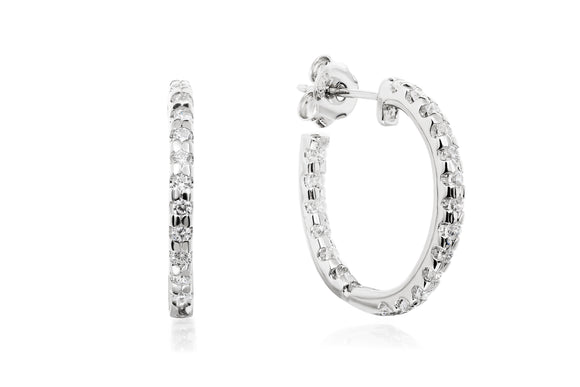 Round Hoop Earrings - Forever Lovely Jewellery