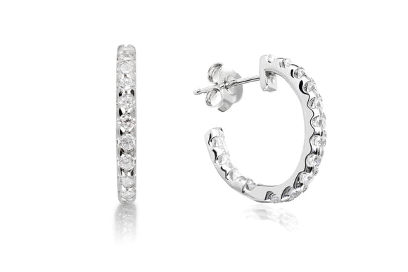 Oval Hoop Earrings - Forever Lovely Jewellery