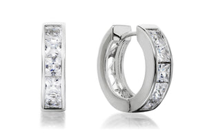 Princess Cut Hoop Earrings - Forever Lovely Jewellery