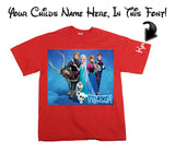 Frozen movie Disney T Shirt Red