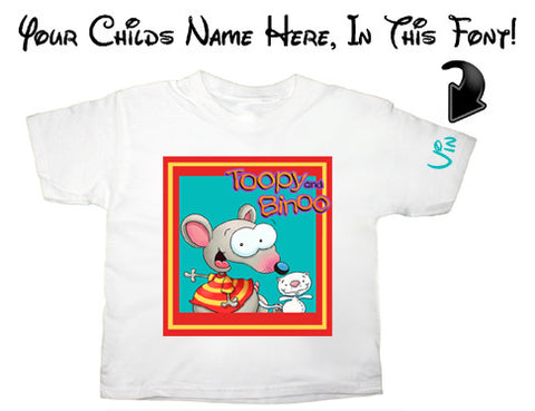 NEW DESIGN 2015 Toopy and Binoo T with Custom Name T Shirt